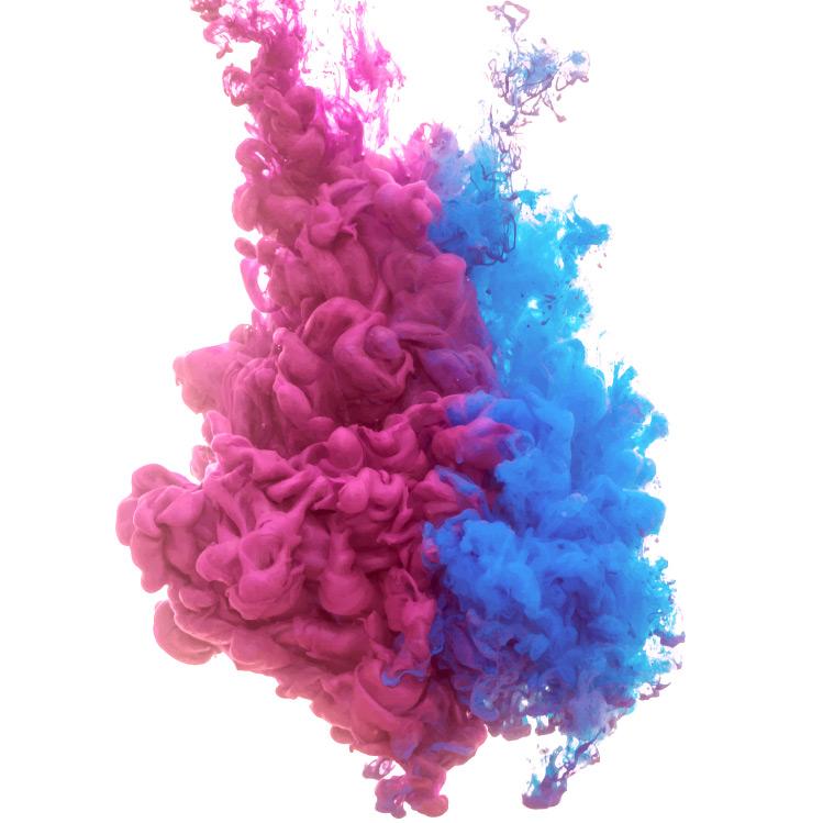 Red & Blue Color Splash